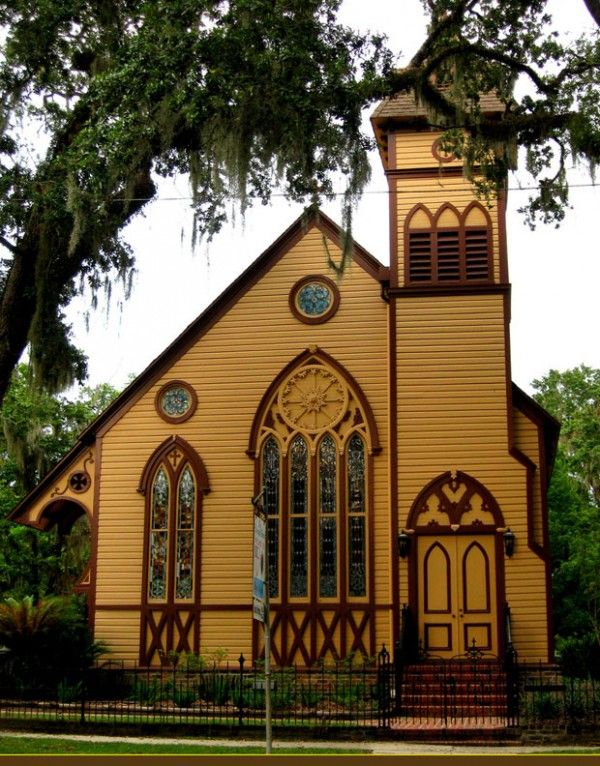 A Church In Old Florida, USA: Beautiful Church, Beautiful Places, Cathedrals Usa, Church Around The World, Favorite Beautiful, Old Florida, Schools House, Florida Usa, Church House