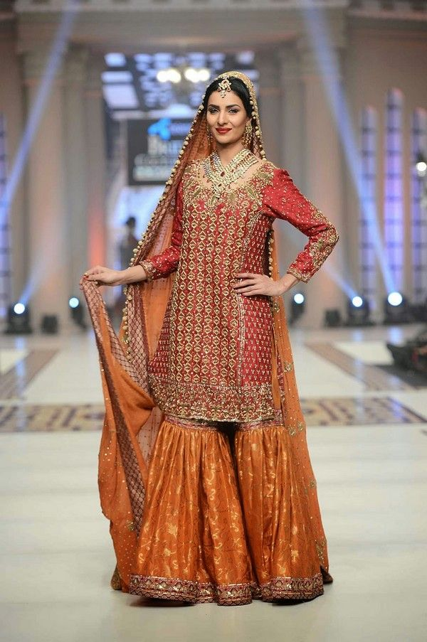 Bridal Sharara Designs For Wedding