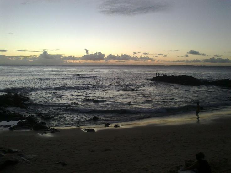Salvador - O Oceano ao pôr do sol na Barra.