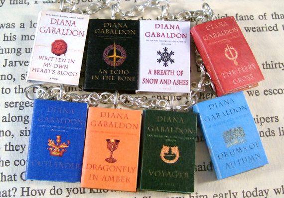 Miniature Classic Novels Outlander Series Book Charm Bracelet by JanDaJewelry, $33.00