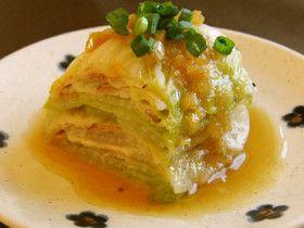 Hakusai and Pork Mille-feuille レンジで簡単♪白菜と豚バラミルフィーユ