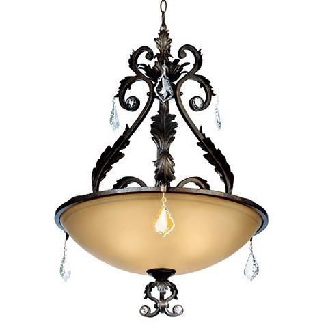 Kathy Ireland Ramas de Luces Bronze Pendant Chandelier - #64622   Lamps Plus