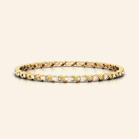 lydie gold diamond bangle