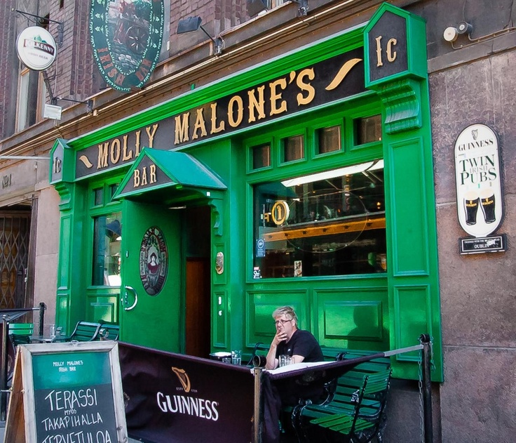 ENTERTAINMENT. Molly Malone's. Selected as one of the top 50 Irish Pubs in Europe, Molly Malone's Irish Bar offers its customers, with the strength of two floors, three bars and a competent bar staff together a genuine and happy Irish atmosphere.