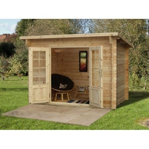 The best way to create the true outdoor space, this robust Harwood Log Cabin offers shelter and storage whilst adding a sense of sophisticated craftsmanship. It can also be purchased pre-assembled for that added proffessional design - from Leader Stores UK