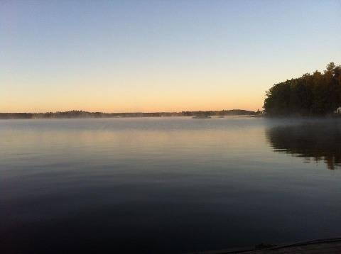Viamede Resort Beautiful early morning on Stoney lake!