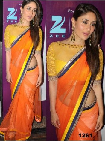 Kareena Kapoor Orange Bollywood Replica Saree Flat 300/- OFF and Special discounts still applicable. Buy now. We ship worldwide. http://20offers.com/deal_of_the_day