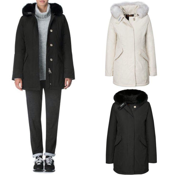 #Woolrich W's #Luxury #ArcticParka #Fox #White & #Black