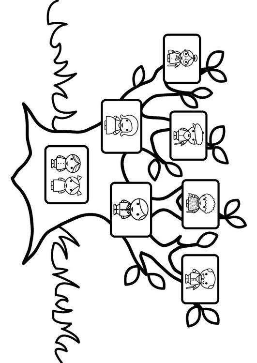 stamboom - kleurplaat