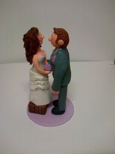 Bruidspaar op trapie