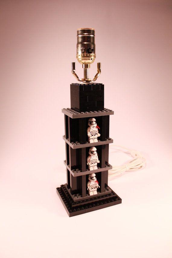 Handmade LEGO Minifigure Display Lamp w/ First door brickablocks