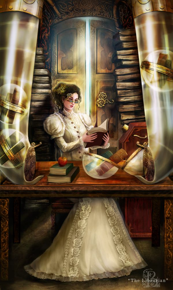 Of Brass and Steam: Librarian by ~BrookeGillette