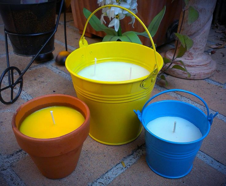 Citronella bucket candles ~ Perfect for summer! ~
