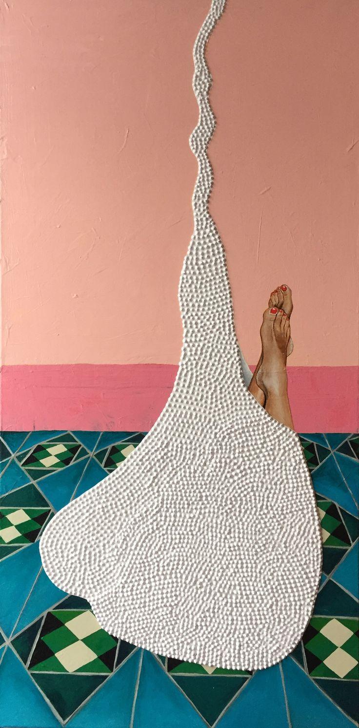 Pink feet - 100x50cm - www.lisbethsahl.dk