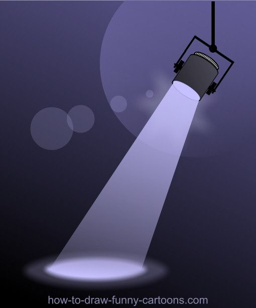 Draw a simple spotlight with great effects.