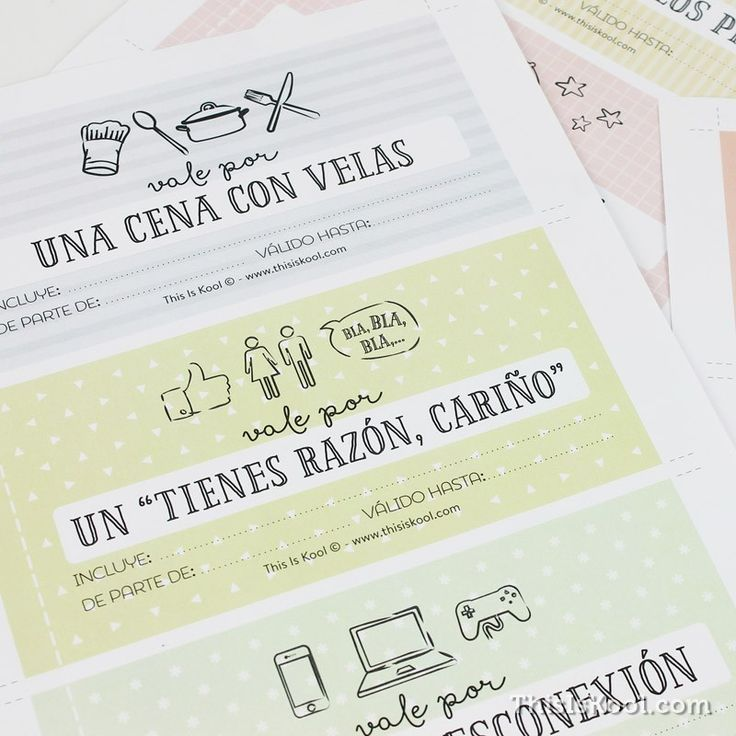 """Descargable gratuito - """"TALONARIO DE VALES REGALO - PORQUÉ TU LO """"VALES"""""""""""