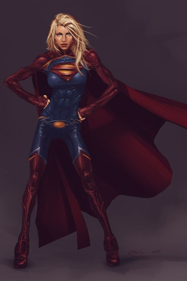 The Girl Of Steel (How much would I pay to see this version of Supergirl? Now that's a costume!)