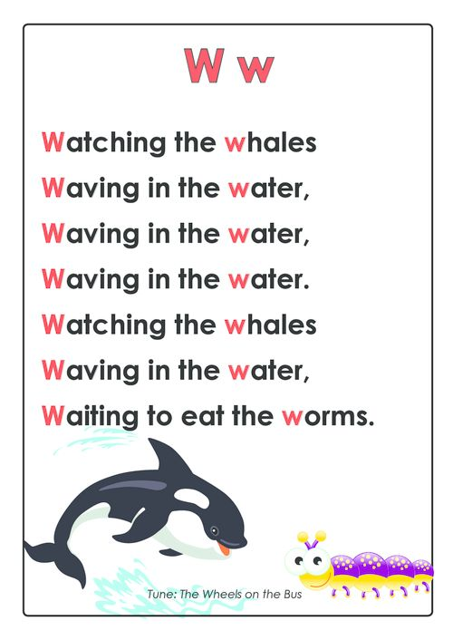 PRESCHOOL BEST ABC Songs – Letter W  #cognitive #development #early #learning #rhyme #for #memorization