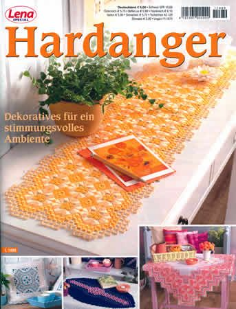 Special Lena Hardanger Magazine - I liked ideas on cover as inspiration for how to decorate something I would want to sell. (In a different language, but interesting to look at.)