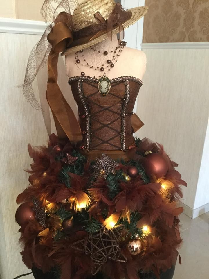 312 Best Dress Form Christmas Trees Images On Pinterest