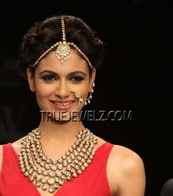 True Jewelz: Heavy Bridal Kundan Jewellery / Kundan Headpiece