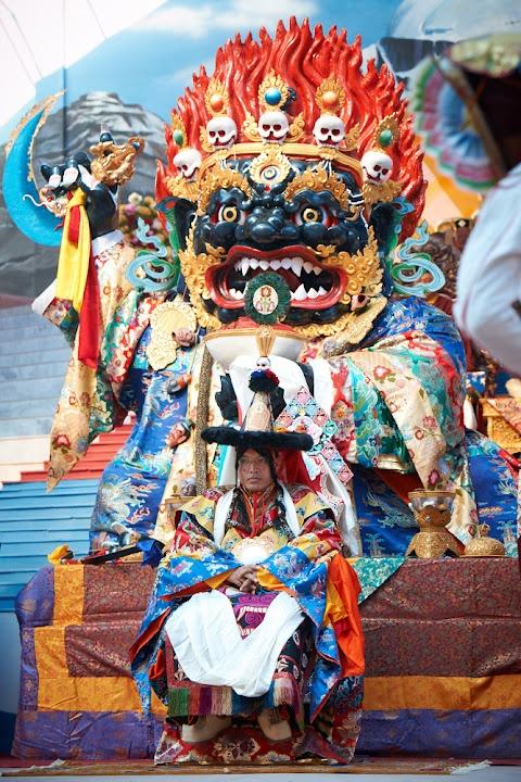Karmapa during the Lama Dances.