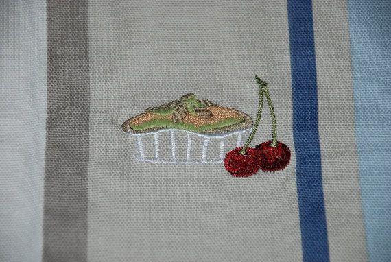 Linen Towel Kitchen Hand Tea Dish Towel Embroidery by Rokasdarbi