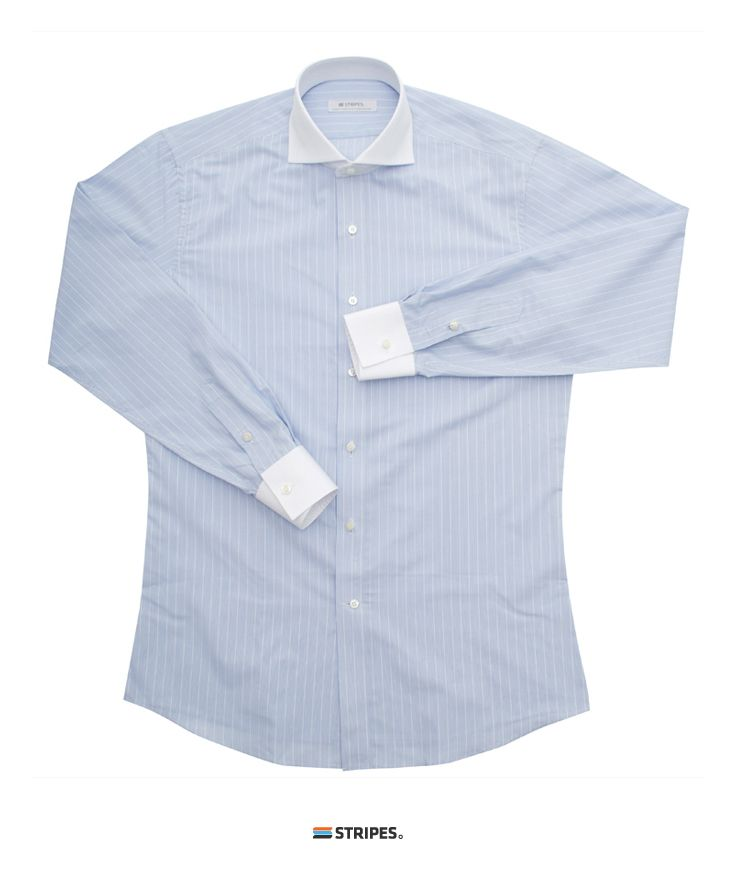 SHIRT. BLUE STRIPE CLERIC