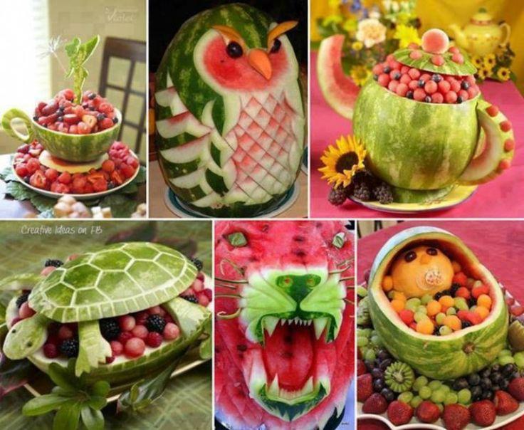 1000 id es sur le th me corbeille de fruits de past que sur pinterest sculpture de past que - Sculpture sur fruit ...