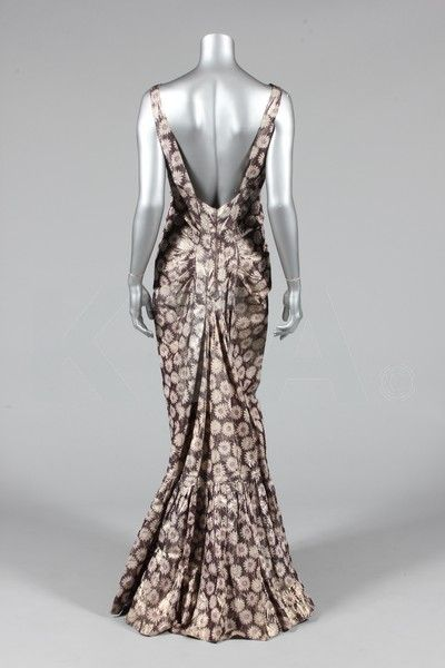 Old Rags - Evening dresses, 1930's (Left) Bust is 81cm/32in,...