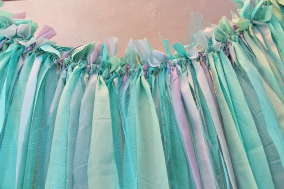 Mermaid Party Under The Sea Fabric Backdrop Banner