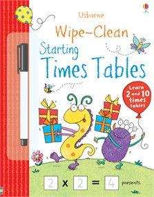 Wipe-clean starting times tables -- order at ILikeUsborneBooks.com!