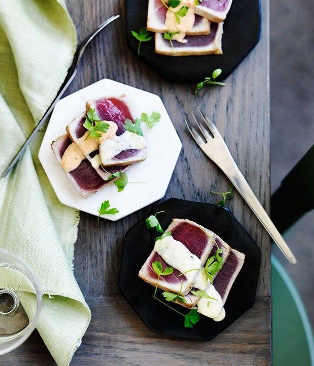 Tuna tataki recipe | Izakaya Den :: Gourmet Traveller