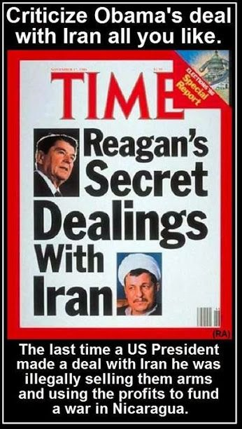 "As for ""setting a bad precedent"" by ""negotiating with terrorists,"" the GOP's very serious concern comes three decades too late: Their hallowed icon, Ronald Reagan, firmly established that precedent in a still-murky tangle of secret dealings with Iran, only some of which came to light in the Iran-contra scandal. While Obama was actually involved in prisoner-of-war negotiations — a quite different matter, as several commentators have tried to explain — Reagan clearly was not. Thus, if we…"