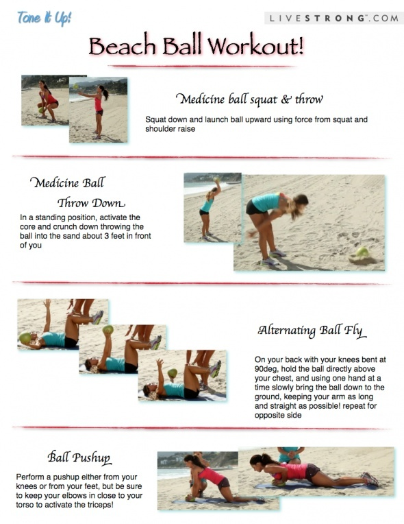 Beach ball workout fitness-with-tone-it-up