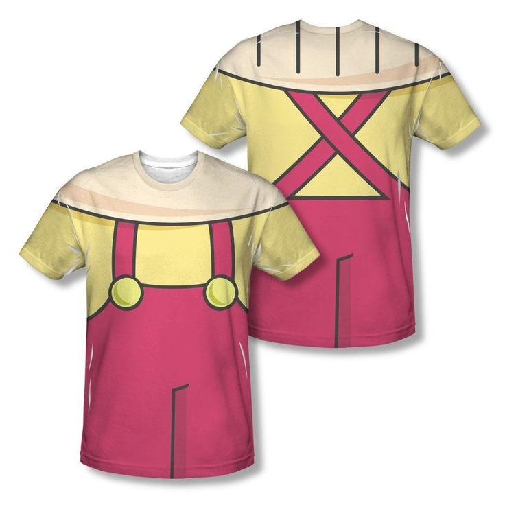 Family Guy Show Stewie Griffin Outfit Costume All Over Sublimation T-shirt Top #TrevcoInc #GraphicTee