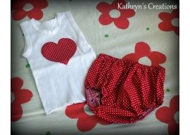 Red and White Spotty Nappy Cover Set - SIze 0000