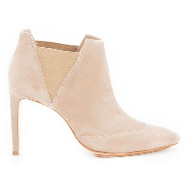 Sarah Chofakian high heels ankle boot (17 120 UAH) ❤ liked on Polyvore featuring shoes, boots, ankle booties, nude, ankle boots, high heel ankle boots, high heel ankle booties, high heel boots and high heel booties