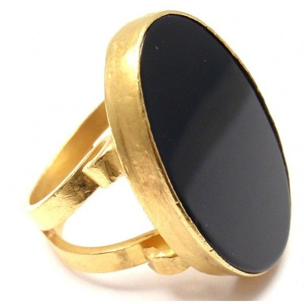 Pre-owned Rare Yossi Harari 24K Yellow Gold Black Onyx Large Ring ($3,000) ❤ liked on Polyvore featuring jewelry, rings, gold jewelry, 24k ring, 24k gold jewellery, oval ring and 24 karat gold ring