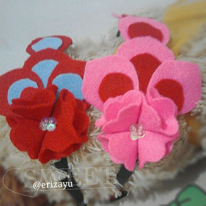#headband #flanel #hairaccesories #bando #felthairband #handmade