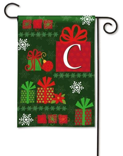 Great Christmas Presents Monogram C Garden Flag, FREE Shipping!