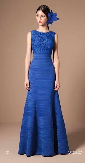 Resultado de imagem para vestido tule longo azul