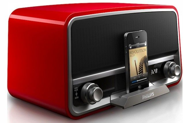 Philips goes retro with 1950s inspired radios. Philips, Radios, Docking stations, IFA2012 0
