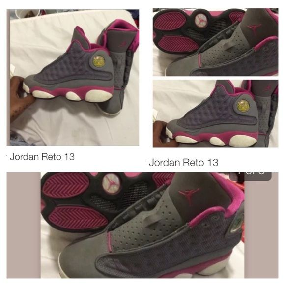 Girls rare air Jordan's Can't buy these anymore! Size 4Y authentic pink/grey Jordan Shoes