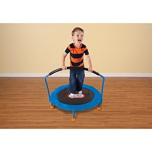 Small Trampoline 3ft Child Home Exercises Jumping Toy Indoor Toy Blue/Black #SmallTrampoline