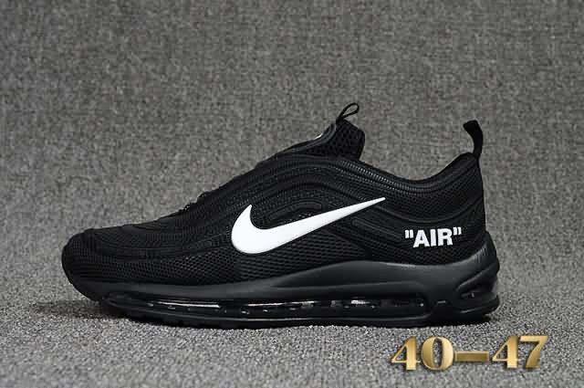 nike air max 97 x off white black