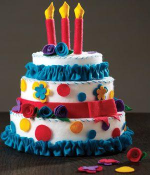 How to Make a Felt Birthday Cake
