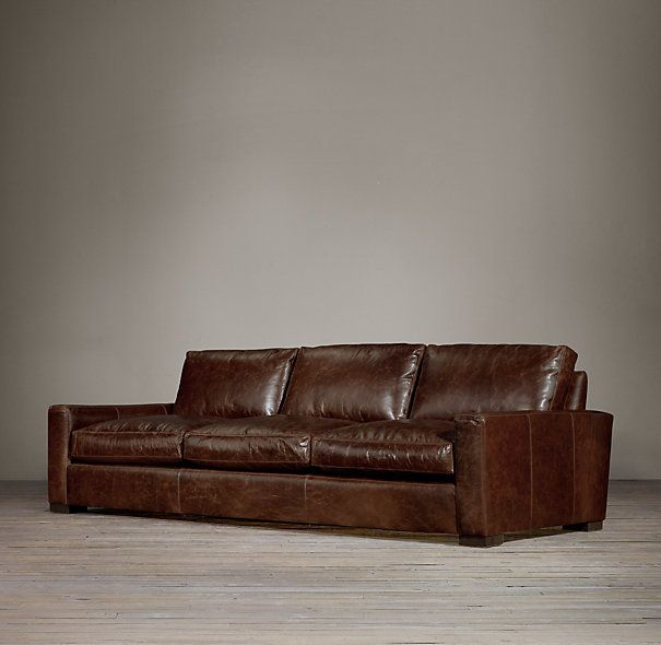maxwell leather three cushion sofas restoration hardware leather