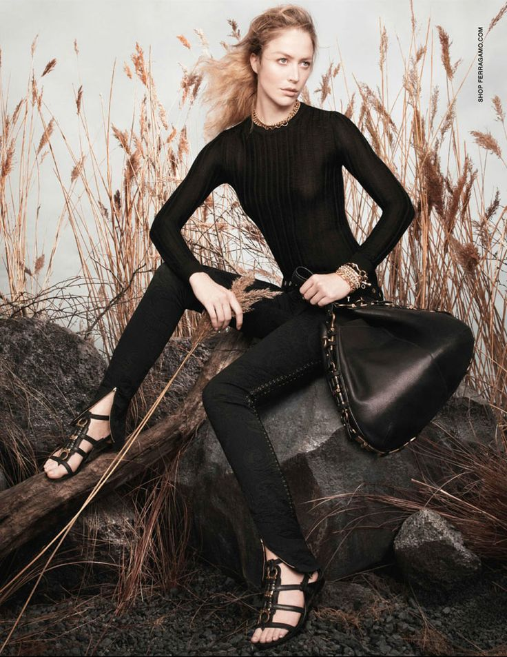Raquel Zimmermann Poses for Salvatore Ferragamos Spring 2013 Campaign by David Sims