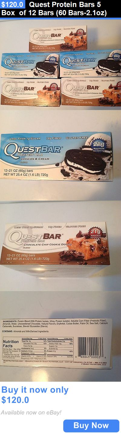 Energy Bars Shakes and Drinks: Quest Protein Bars 5 Box Of 12 Bars (60 Bars-2.1Oz) BUY IT NOW ONLY: $120.0